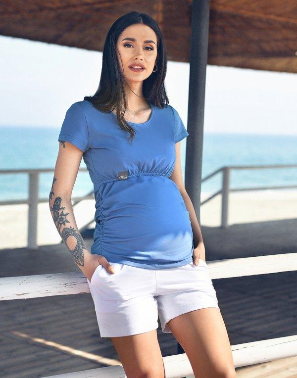 MijaCulture - spodenki ciążowe 4091/3808 biały