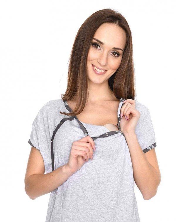 MijaCulture - koszula do porodu 4123 melanż 4