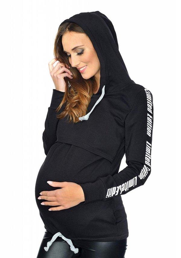 MijaCulture - 3 w 1 bluza ciążowa i do karmienia M68 4110 czarny Limited Edition 1