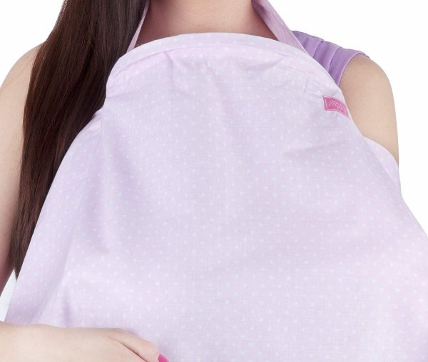 chusta, peleryna do karmienia piersią + etui 4010/M34 różowy 2