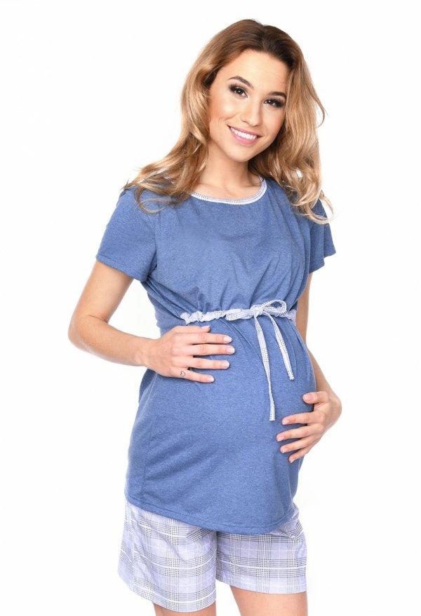 MijaCulture - 3 w 1 piżama ciążowa i do karmienia 4030/M76 jeans