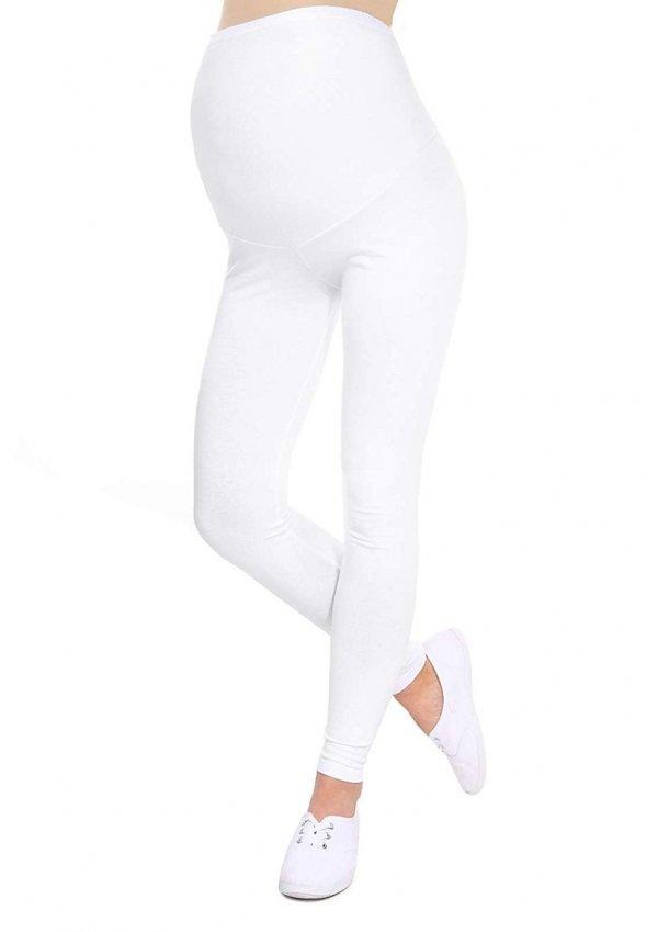 Komfortowe legginsy ciążowe 3085 biały