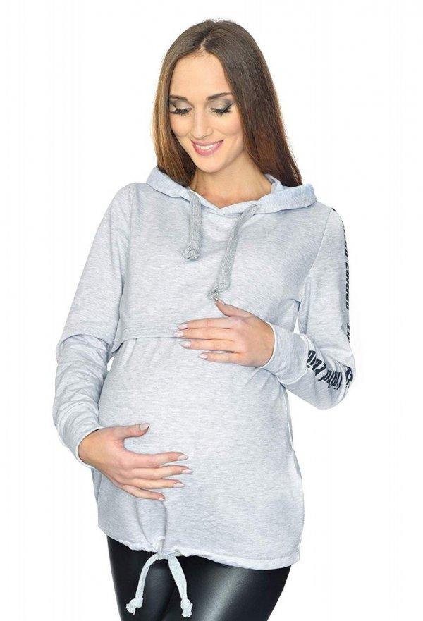 MijaCulture - 3 w 1 bluza ciążowa i do karmienia M68 4110 melanż 3