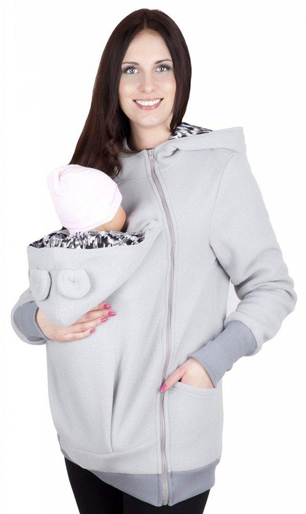 bluza polarowa do noszenia dziecka 4019A/M21 szary 1