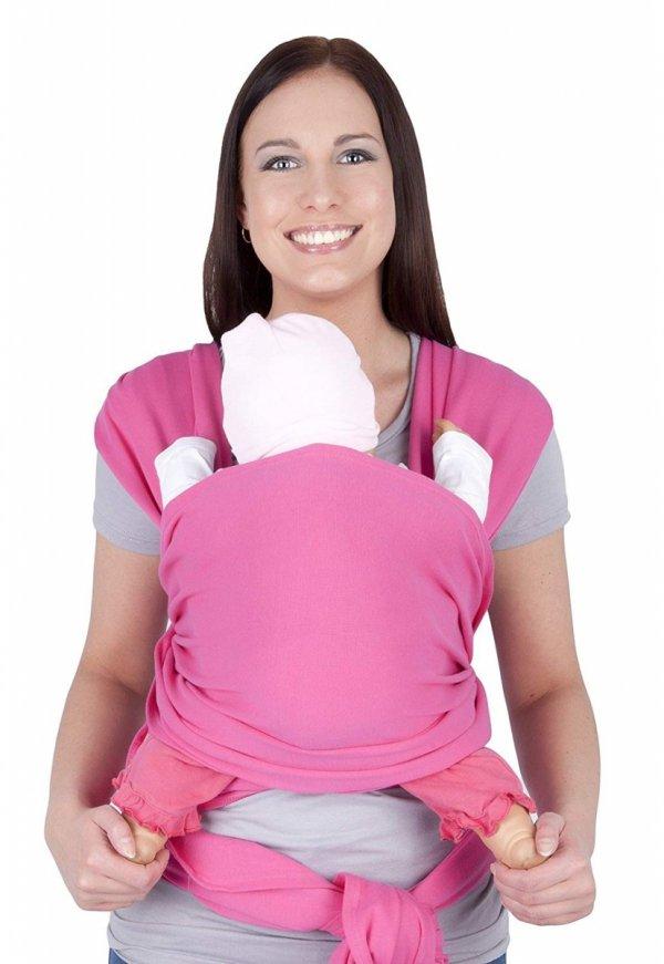 chusta do noszenia dzieci 4011/M28 różowy 2