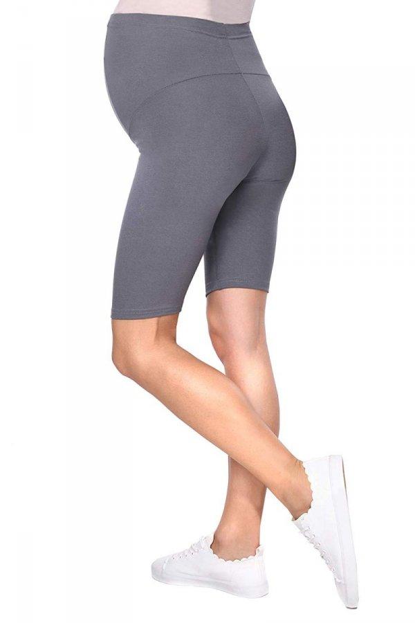 Wygodne legginsy ciążowe Mama szary 4