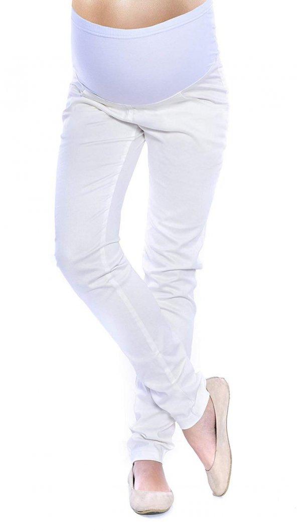 MijaCulture - spodnie rurki 4007/ M24 ecru 1