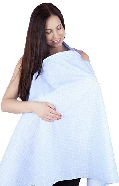chusta, peleryna do karmienia piersią + etui 4010/M34 jasno niebieski 1