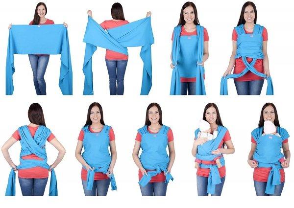 chusta do noszenia dzieci 4011/M28 jasno niebieski 3