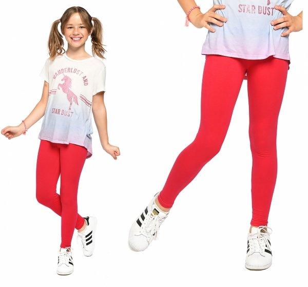 Legginsy dziewczęce getry dla dzieci ZOE czerwony