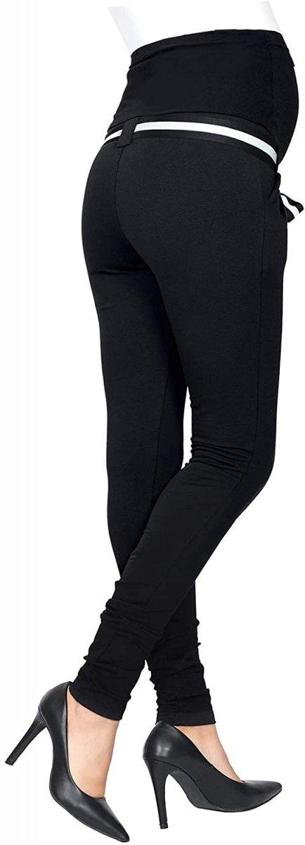 Komfortowe spodnie ciążowe Monika 9081 czarny2