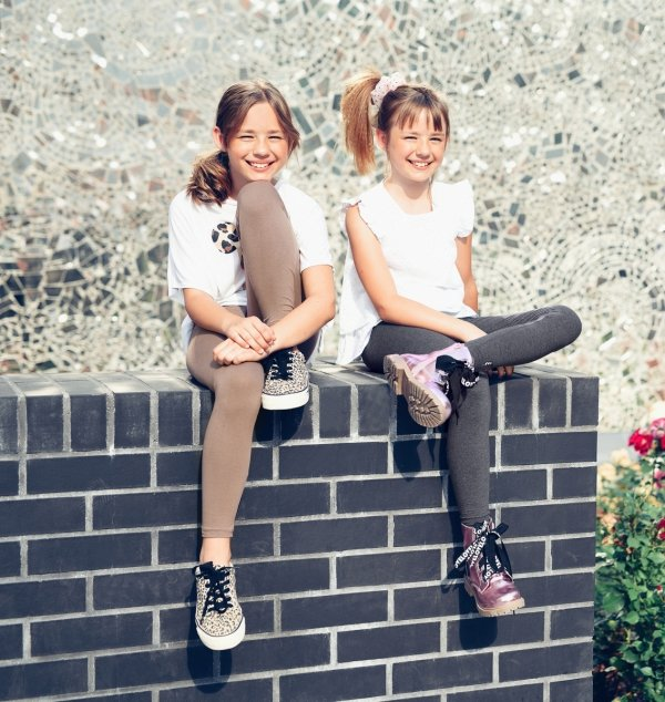 Legginsy dziewczęce getry dla dzieci ZOE róż