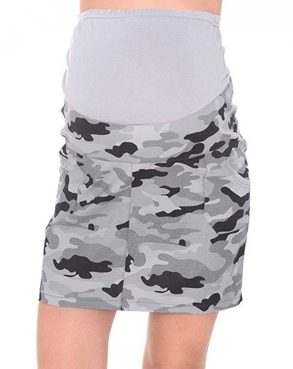 MijaCulture - spódnica ciążowa moro 9060/M59 moro 1