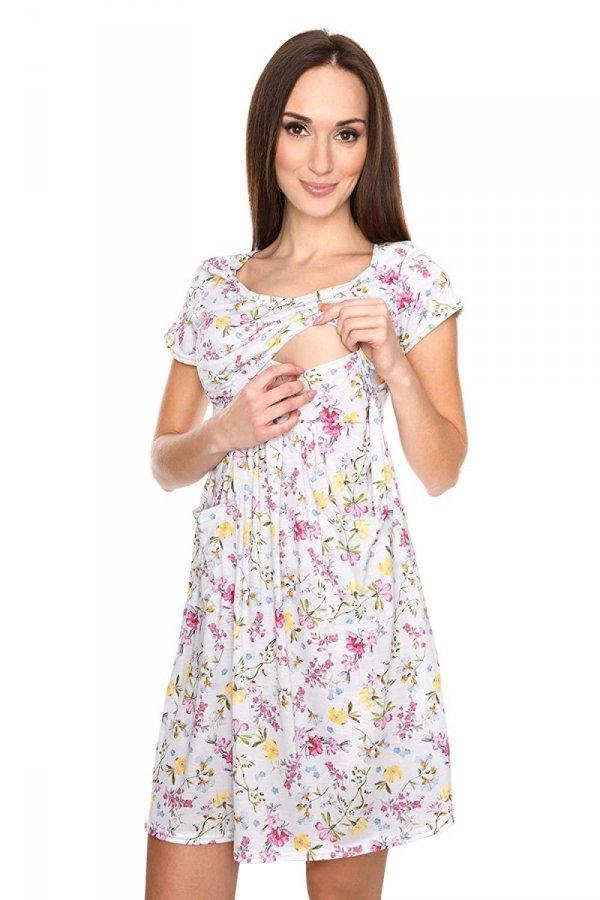 """MijaCulture - zjawiskowa sukienka 2 w 1 ciążowa i do karmienia """"Lulu"""" kwiaty 2"""