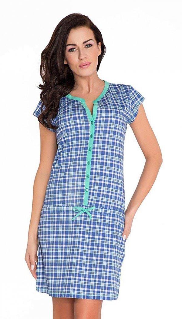 Elegancka koszula 2 w 1 do karmienia i na co dzień 5061/7041 niebieski