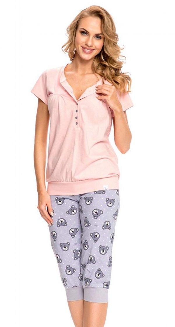 Wygodna piżama 2 w 1 ciążowa i do karmienia 5063 jasno różowy 1