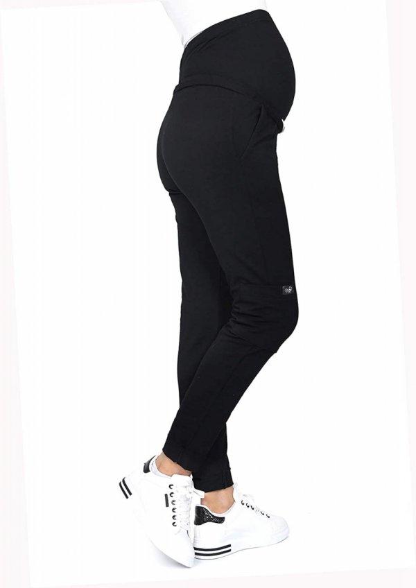 MijaCulture Wygodne spodnie dresowe ciążowe ZOE M002 czarny4