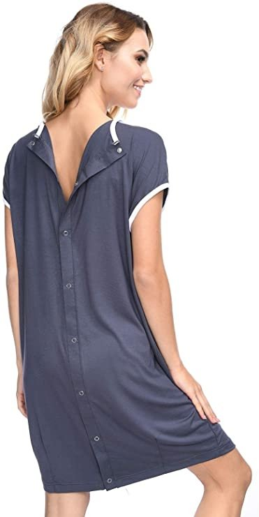 MijaCulture - koszula do porodu 4128 M92 grafit4