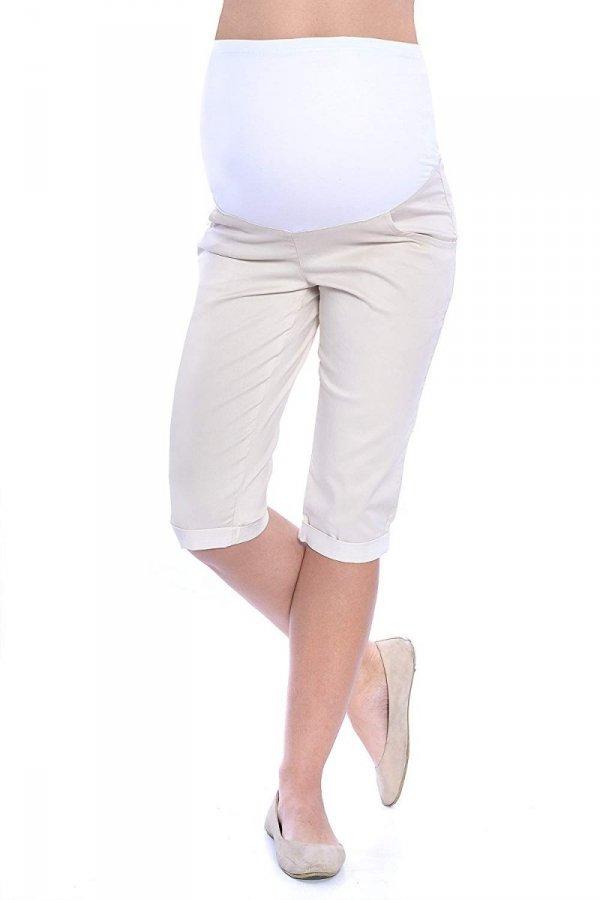 MijaCulture - spodnie rybaczki ciążowe 4015/ M35 beż 4