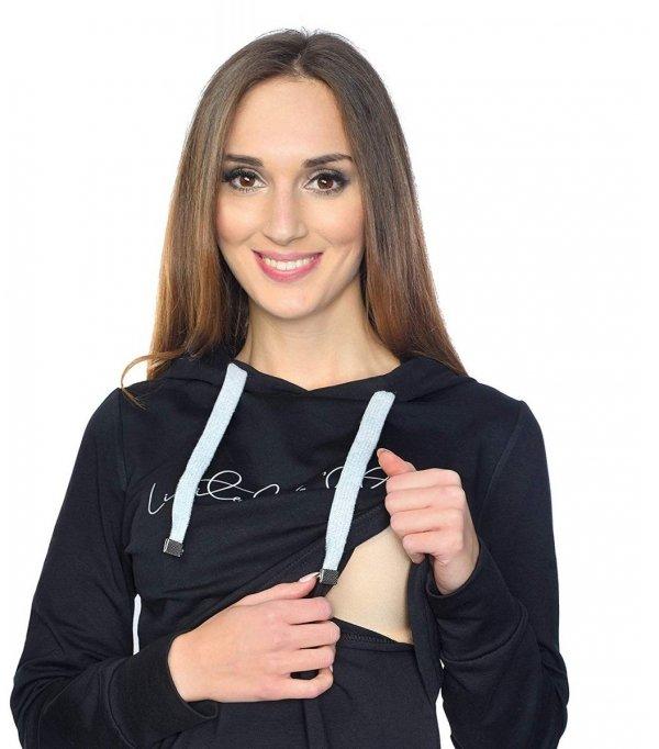 MijaCulture - 3 w 1 bluza ciążowa i do karmienia M68 4110 czarny Limited Edition front 4