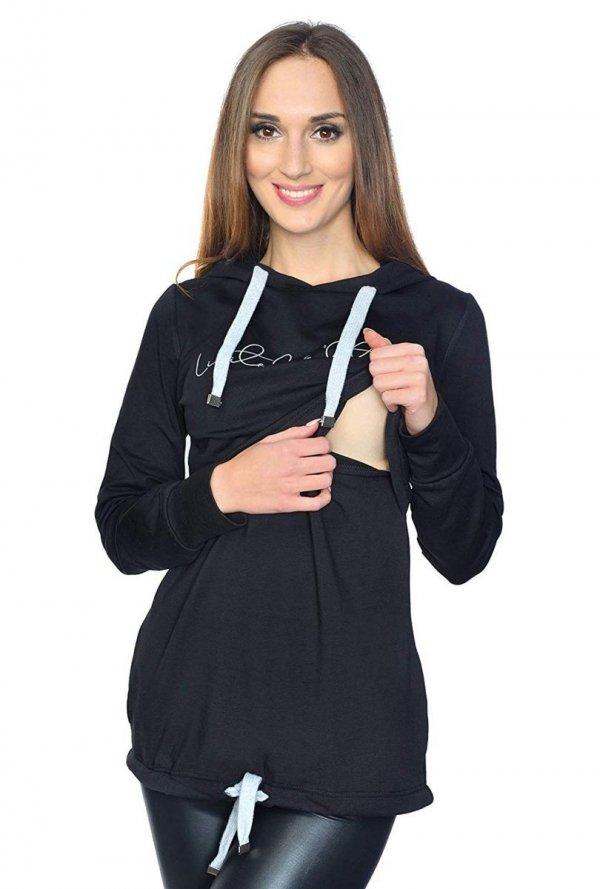 MijaCulture - 3 w 1 bluza ciążowa i do karmienia M68 4110 czarny Limited Edition front 2