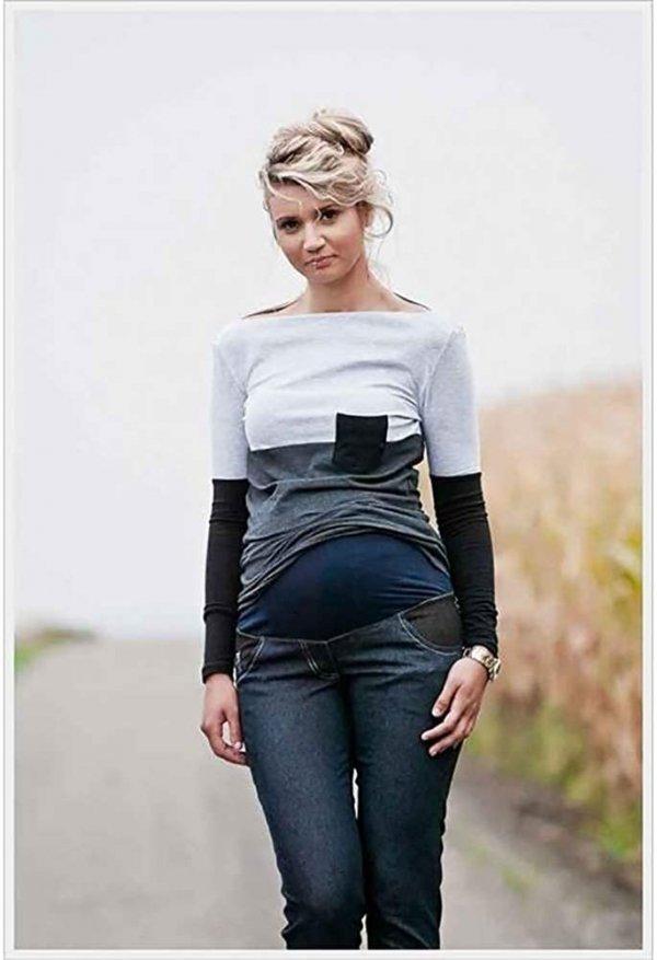 Spodnie ciążowe jeans Korina 9027 dla kobiet w ciąży2