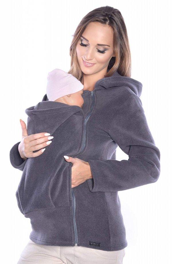 Ciepła bluza polarowa do noszenia dziecka 3072A szary