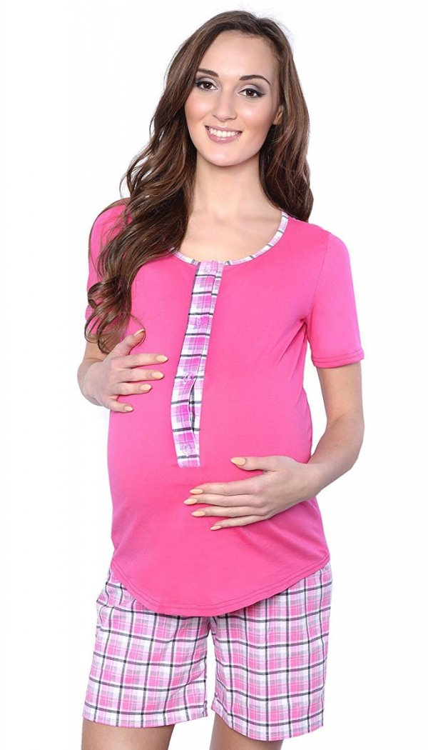 3 w 1 piżama ciążowa i do karmienia 4030/M47 różowy 2