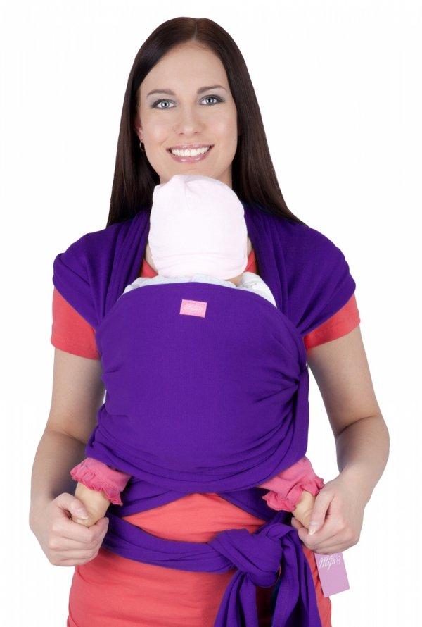 MijaCulture - chusta do noszenia dzieci 4011/M28 brzoskwiniowa 1