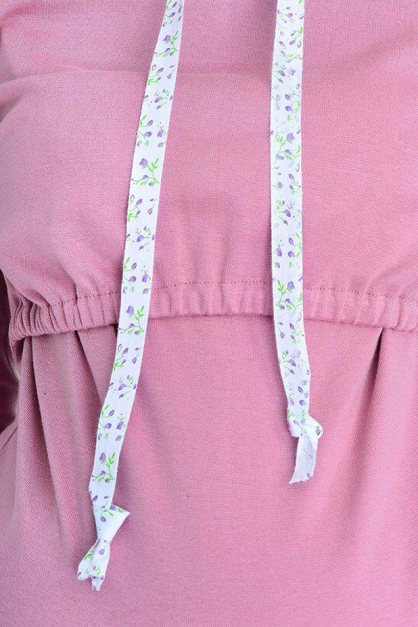 """bluza 3 w 1 ciążowa i do karmienia z kapturem """"Melanie"""" 7136 różowy 3"""