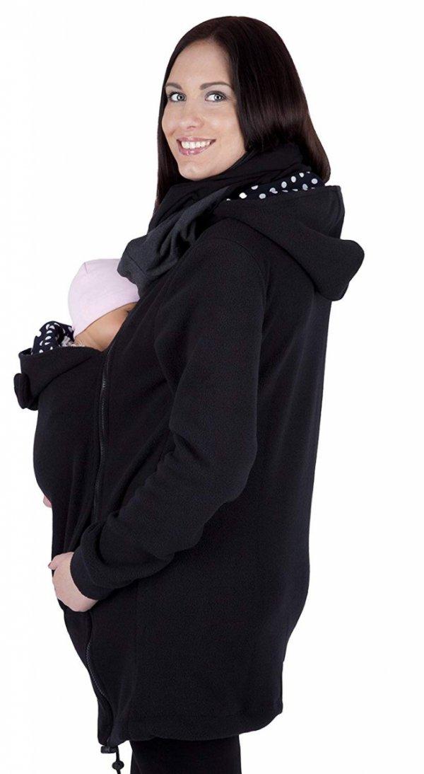 MijaCulture - polar do noszenia dziecka 3073A czarny 3
