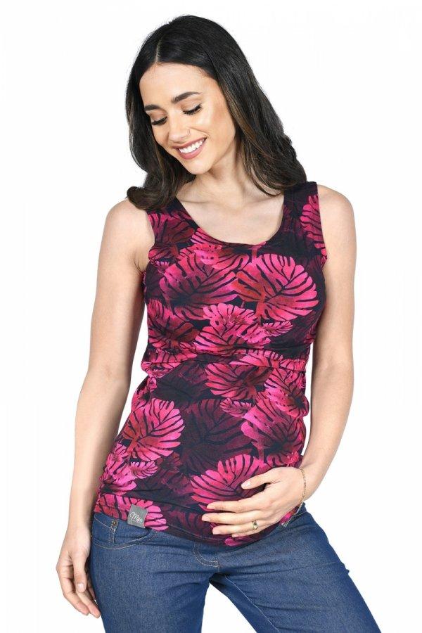 MijaCulture - top 2 w 1 ciążowy i do karmienia M005 Betty róż
