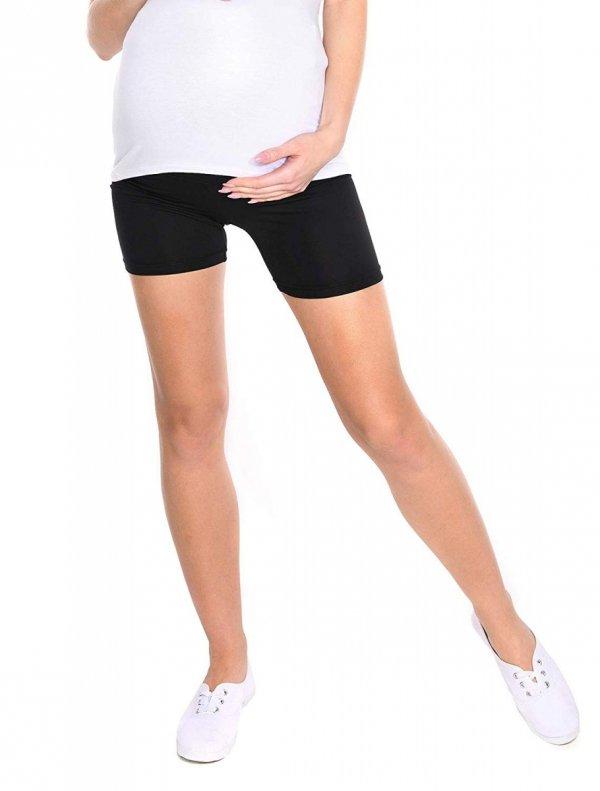 Wygodne krótkie legginsy ciążowe Mama Mia czarny 3