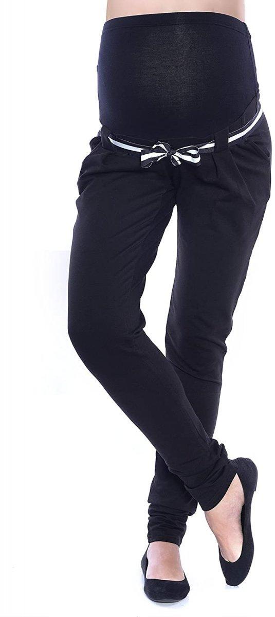 Komfortowe spodnie ciążowe Monika 9081 czarny1