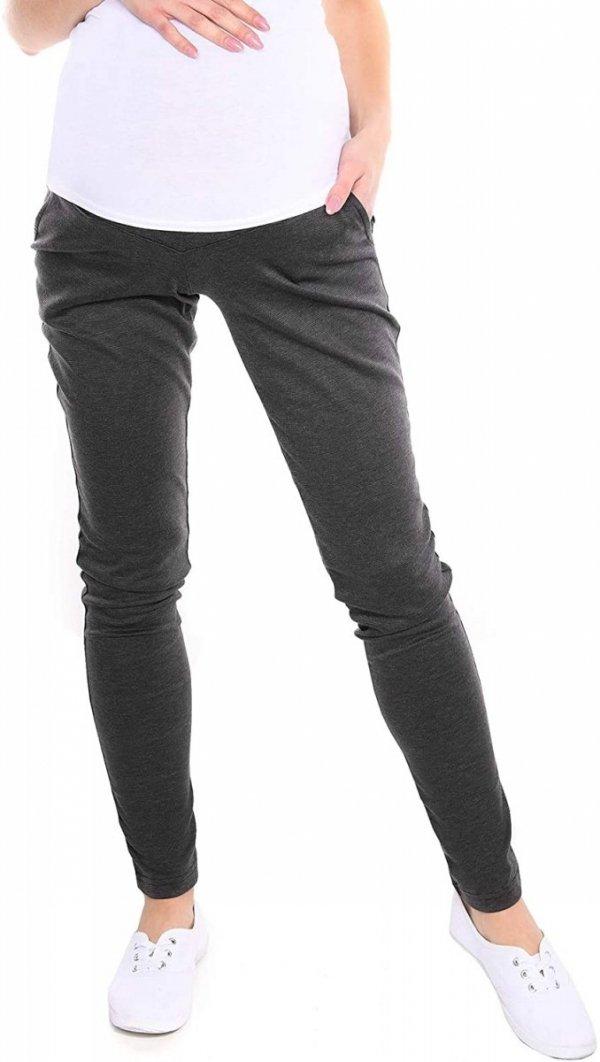 Wygodne spodnie ciążowe Kaja 9043 grafit1