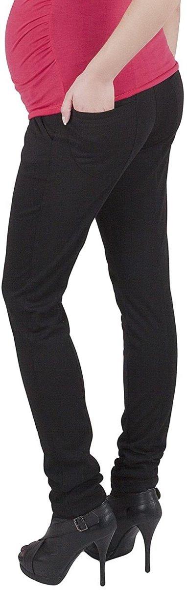 Wygodne spodnie ciążowe Kaja 9043 czarny2