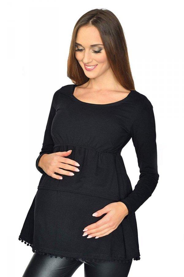 """Elagancka bluzka ciążowa i do karmienia """"Holly"""" 7145 czarna 1"""