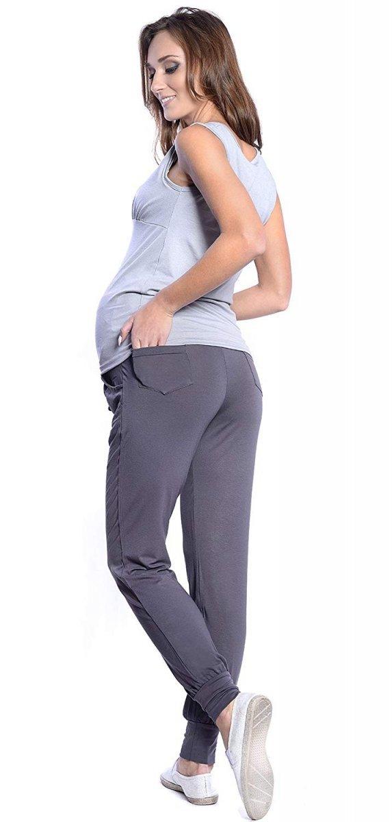 MijaCulture - spodnie alladynki z panelem 4012/ M 33 grafit 3