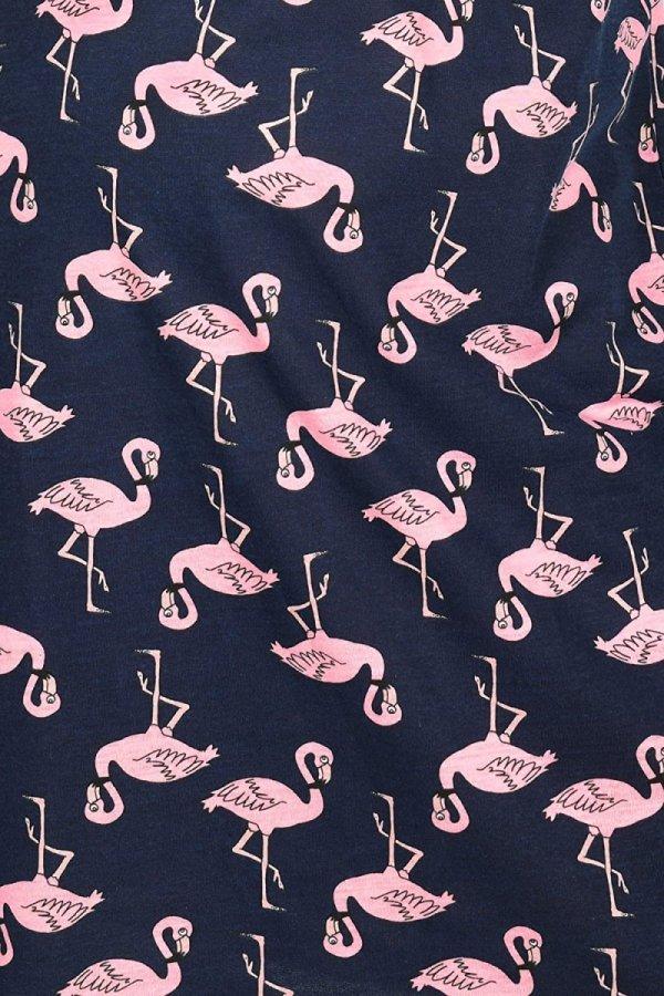 MijaCulture - 2 w 1 koszula nocna i do karmienia  2074 granat flamingi