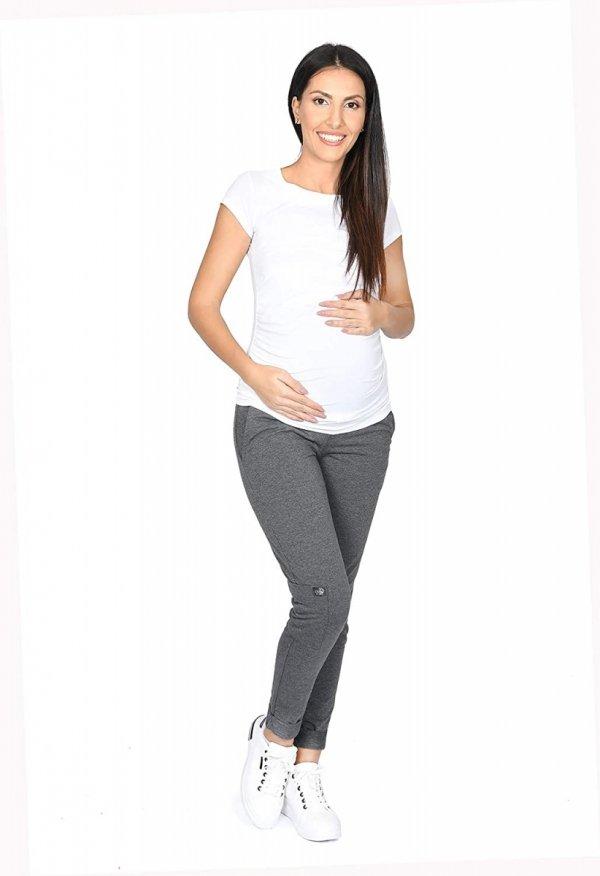 MijaCulture Wygodne spodnie dresowe ciążowe ZOE M002 grafit3