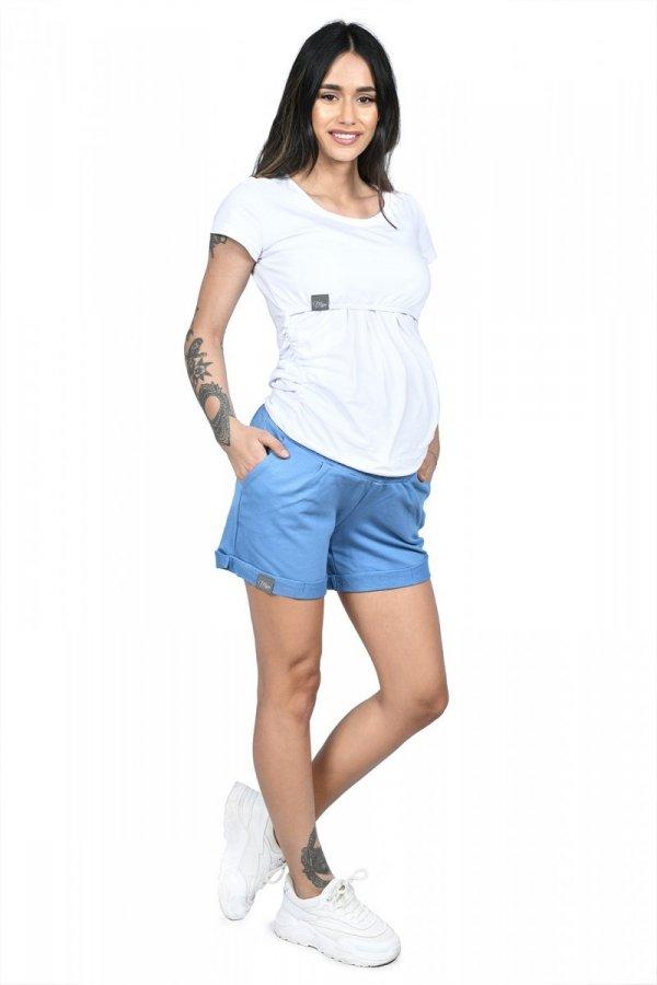 MijaCulture - spodenki ciążowe Lola M004 niebieski