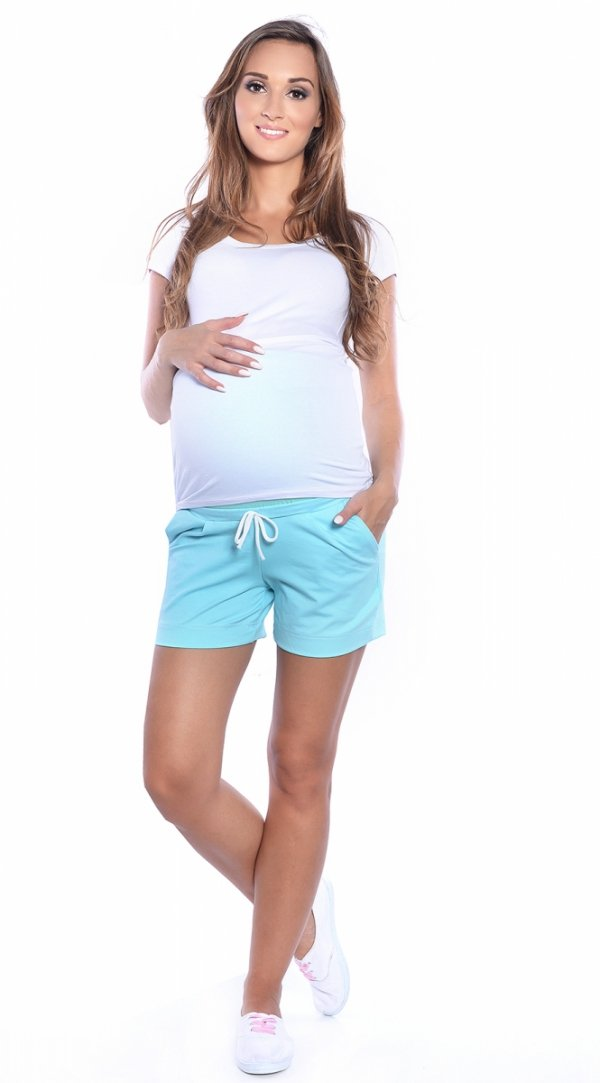 MijaCulture - spodenki ciążowe 4091/3808 mięta
