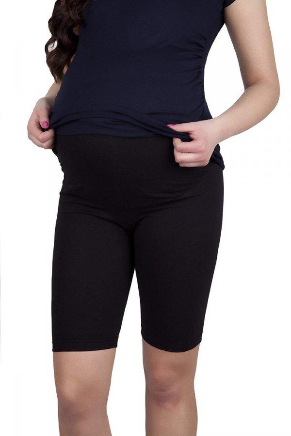 MijaCulture - wygodne krótkie legginsy ciążowe 4008/M25 czarny 1