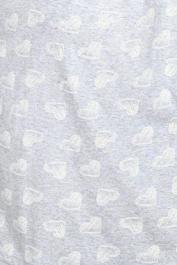 MijaCulture - 2 w 1 koszula nocna i do karmienia  2074 szary serca