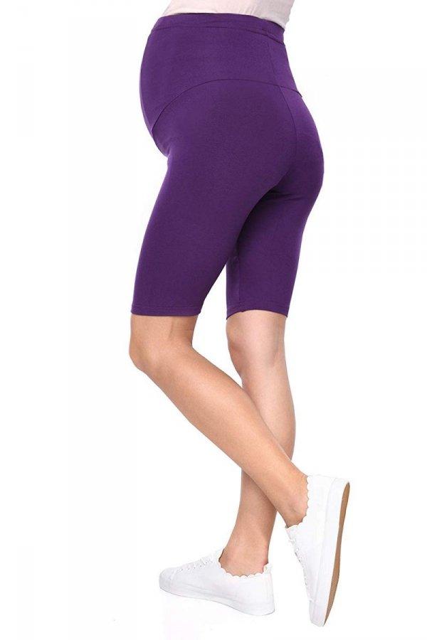 Wygodne legginsy ciążowe Mama fioletowy 4
