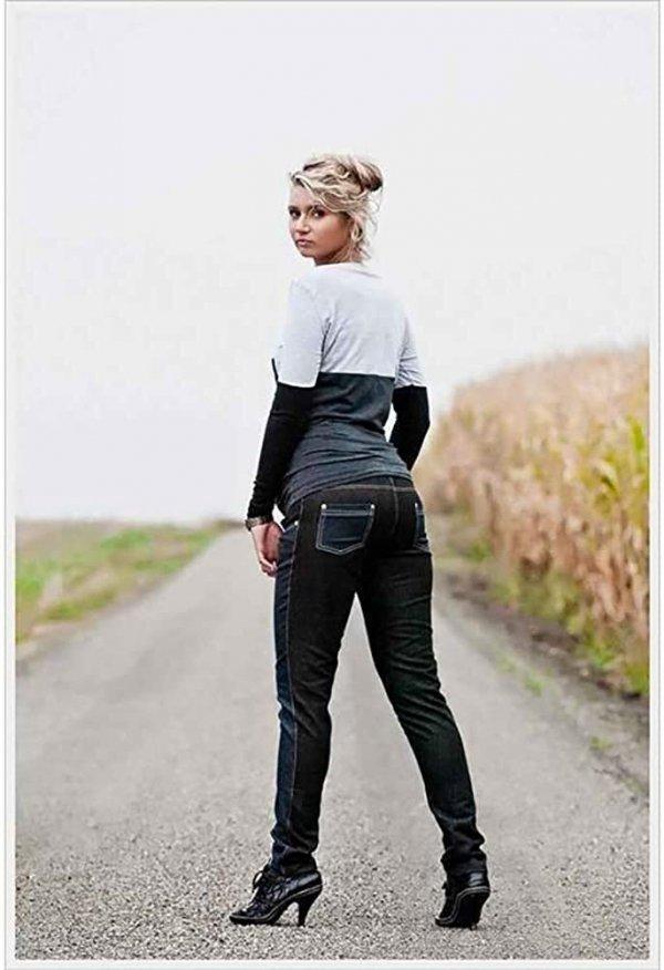 Spodnie ciążowe jeans Korina 9027 dla kobiet w ciąży4