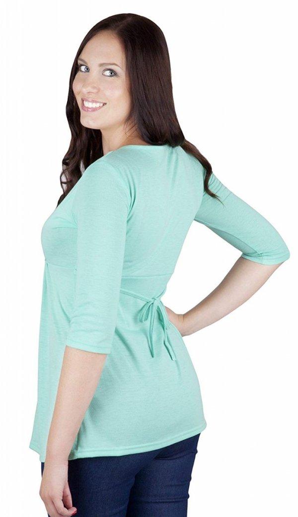 """MijaCulture - bluzka 2 w1 ciążowa i do karmienia długi rękaw """"Dora II"""" 7103 mięta 3"""