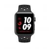 Apple Watch Nike+ Series 3 / GPS + LTE / Koperta 42mm z aluminium w kolorze gwiezdnej szarości / Pasek sportowy Nike w kolorze antracytu/czarnym