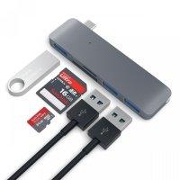 Satechi 3-in-1 USB-C HUB - USB 3.0 / SD / microSD Space Gray