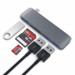 Satechi 3-in-1 USB-C HUB - USB 3.0 / SD / microSD Space Gray